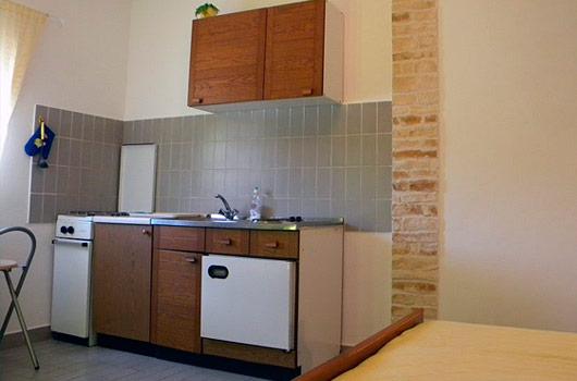 Terasa studio apartmana na otoku Žirju