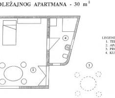 Tlocrt malog apartmana